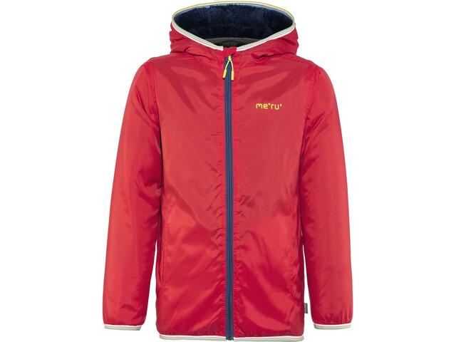 Meru Stayton Teddy Fleece Jacket Kids red
